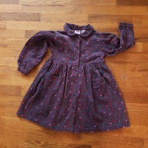 Purple corduroy collared dress 5T